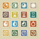 Clocks and time icons set Stock Image