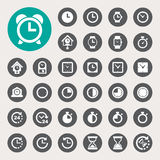 Clocks and time icons set Royalty Free Stock Images