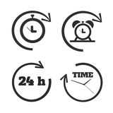 Clocks, time icons set Royalty Free Stock Photo
