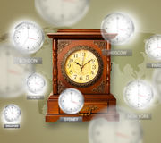 Clocks and time zones over the world concept Royalty Free Stock Photography