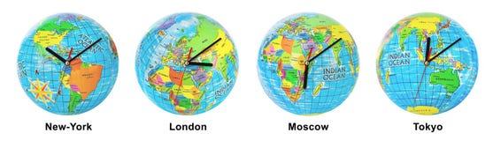 Clocks Timezone Stock Photos
