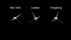 clocks timezone Arkivbild