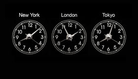 clocks timezone Royaltyfri Fotografi