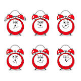 Clocks and various mood Royalty Free Stock Image