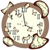 Clocks of various shapes Stock Photography