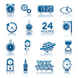 Clocks and watches icons. Set of clocks and watches icons Royalty Free Stock Photos