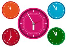A clocks. Clocks on a white background royalty free illustration