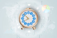 Clocks with world time and finance business concept Royalty Free Stock Image