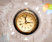 Clocks with world time and finance business concept Royalty Free Stock Photography
