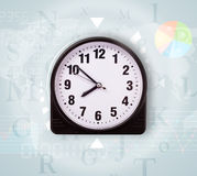 Clocks with world time Royalty Free Stock Photos