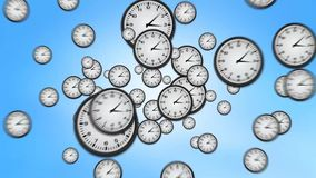 Clocks Zoom Out of Screen stock video footage
