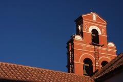 clocktower屋顶圣诞老人特里萨 免版税库存图片