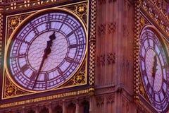 Clocktower的大本钟关闭 免版税库存图片