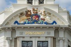 Clocktower豪宅的皇家冠在Ponsonby路,奥克兰 库存图片