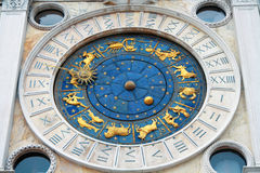 clocktower σημάδι s ST Βενετία της Ιταλίας Στοκ εικόνα με δικαίωμα ελεύθερης χρήσης