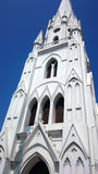 Clocktower στη βασιλική του ST Thomas σε Chennai Στοκ Φωτογραφία