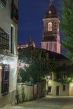 Clocktower της Lekeitio βασιλικής Στοκ Φωτογραφίες