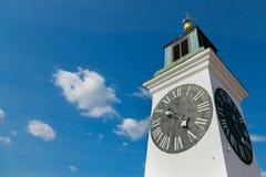 Clocktower του φρουρίου Petrovaradin στο Νόβι Σαντ, Σερβία Στοκ Φωτογραφίες