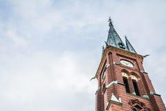 Clocktower церков Стоковые Изображения