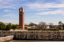 Clocktower. A landscape photo with a clock tower in Austin, TX Stock Image