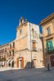 Clocktower Acquaviva delle Fonti Πούλια Ιταλία στοκ φωτογραφία