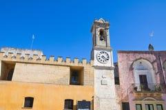 Clocktower. Alessano. Puglia. Italy. Stock Image