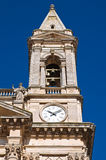Clocktower. Basilica of Alberobello. Puglia. Italy Royalty Free Stock Image