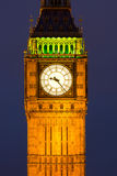 Clocktower with Big Ben at night Stock Images