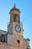 Clocktower Bitritto La Puglia L'Italia Fotografia Stock