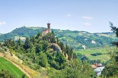 Clocktower. Brisighella. Émilie-Romagne. L'Italie. Photo libre de droits