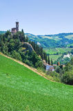 Clocktower. Brisighella. Emilia-Romagna. Italië. Royalty-vrije Stock Foto