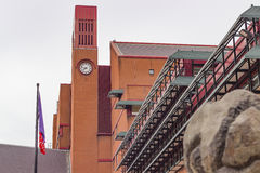 Clocktower of the British Library Royalty Free Stock Image