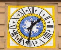 Clocktower in Capri. Clocktower on the Italian island of Capri Stock Photo