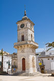 Clocktower. Ceglie Messapica. Puglia. Italy. Royalty Free Stock Photo