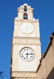 Clocktower in the center of the town of Gallipoli Royalty Free Stock Images
