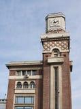 Clocktower of central market. In Ploiesti, Romania Stock Photos