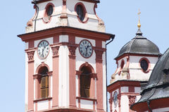 Clocktower of church Royalty Free Stock Images