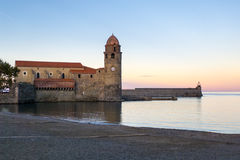 Clocktower Collioure France Stock Photo