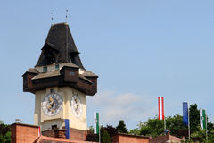 Clocktower de Graz Imagens de Stock Royalty Free