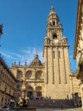 Clocktower de la cathédrale - Santiago de Compostela photo libre de droits
