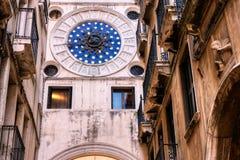 Clocktower de St Mark, también dell 'Orologio de Torre en Venecia, Italia fotografía de archivo libre de regalías