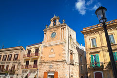 Clocktower Delle Fonti di Acquaviva La Puglia L'Italia Fotografie Stock Libere da Diritti