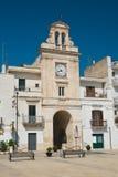 Clocktower Di Bari di Sammichele La Puglia L'Italia Fotografia Stock Libera da Diritti