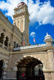 Clocktower di Sultan Abdul Samad Building Fotografie Stock