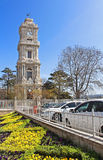 Clocktower of Dolmabahce Palace, Turkey stock images