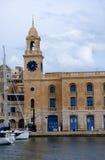 The Clocktower in Grand Harbour in Valletta Malta. The Grand Harbour and fortifications in Valleta Malta Stock Photography