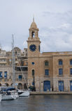 The Clocktower in Grand Harbour in Valletta Malta Stock Photography