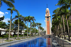 Clocktower in Hong Kong. With clear blue sky Stock Photos