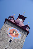 clocktower luzern Στοκ Φωτογραφίες