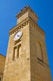 Clocktower. Minervino Murge. Puglia. Italy. Royalty Free Stock Photography